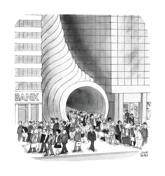 Skyscrapers Drawing - New Yorker August 8th, 1988 by Joseph Farris
