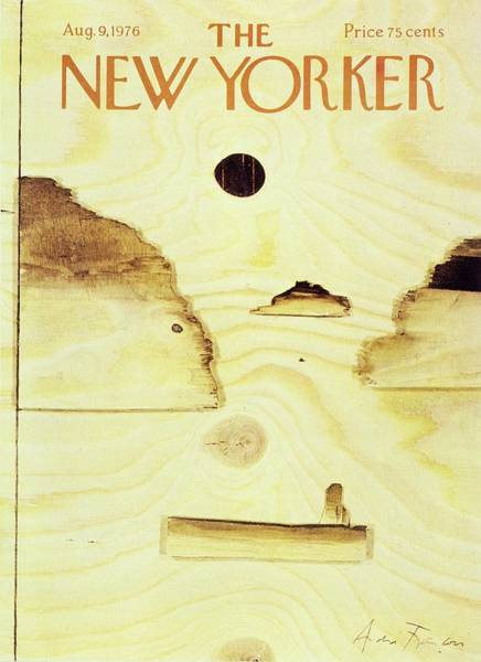 Person Painting - New Yorker August 9th 1976 by Andre Francois