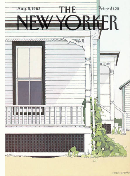 Porch Painting - New Yorker August 9th, 1982 by Gretchen Dow Simpson