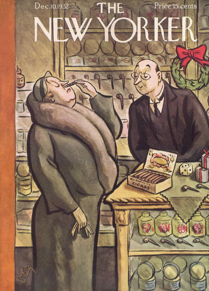 Relaxation Painting - New Yorker December 10th, 1932 by William Steig