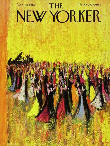Formal Wear Painting - New Yorker December 10th 1960 by Robert Kraus