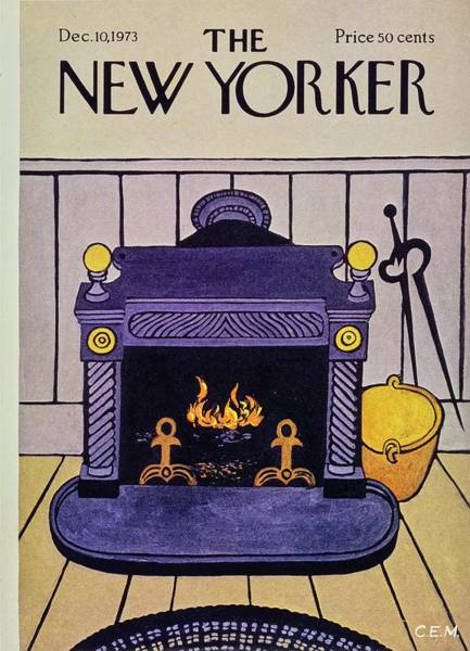 Iron Painting - New Yorker December 10th 1973 by Charles Martin