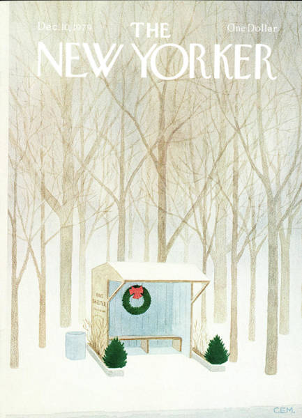 Snowy Painting - New Yorker December 10th, 1979 by Charles E Martin