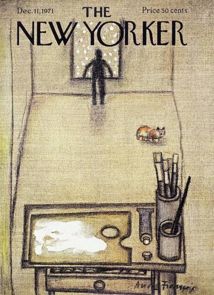 Visual Arts Painting - New Yorker December 11th 1971 by Andre Francois