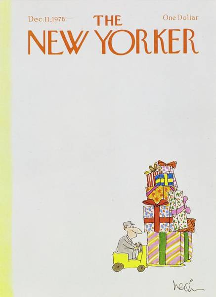 Wall Art - Painting - New Yorker December 11th 1978 by Arnie Levin