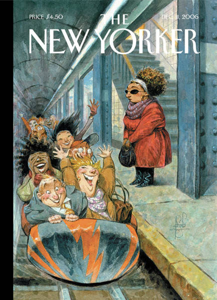 Subway Painting - New Yorker December 11th, 2006 by Peter de Seve