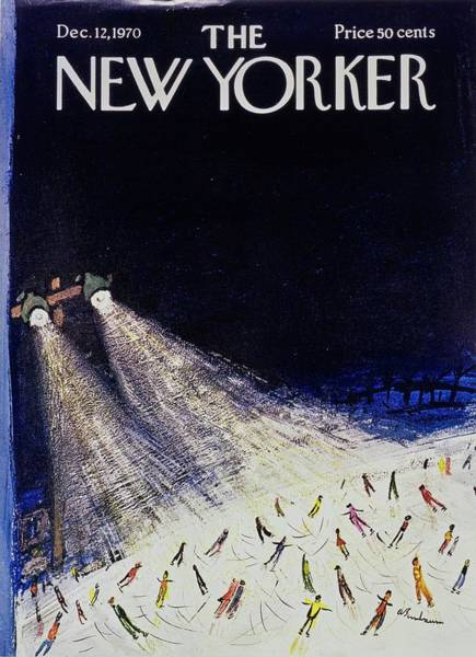 At Night Painting - New Yorker December 12th 1970 by Aaron Birnbaum
