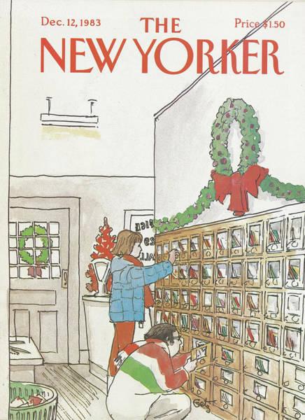 Xmas Tree Painting - New Yorker December 12th, 1983 by Arthur Getz