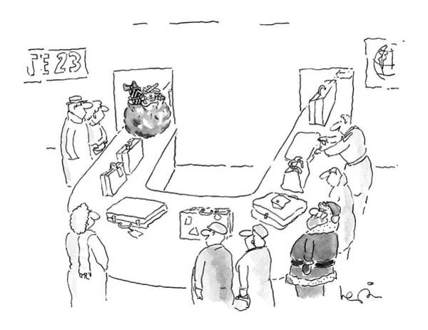 Luggage Drawing - New Yorker December 12th, 1988 by Arnie Levin
