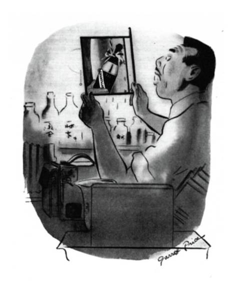 Champagne Drawing - New Yorker December 13th, 1941 by Garrett Price