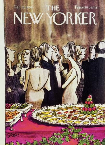 Formal Wear Painting - New Yorker December 13th 1969 by Charles D Saxon