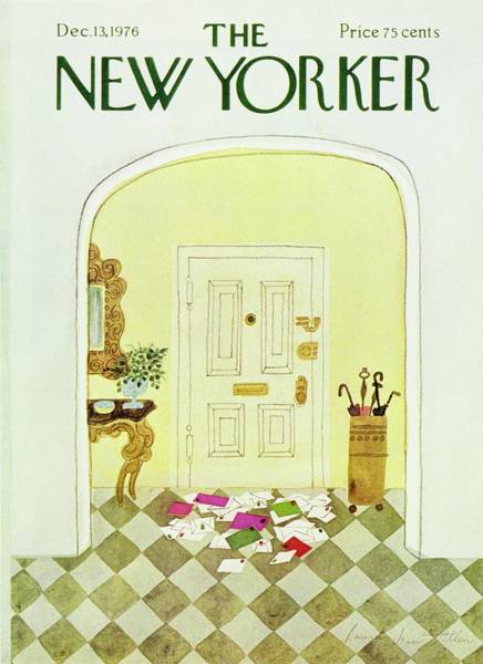 Wall Art - Painting - New Yorker December 13th 1976 by Laura Jean Allen