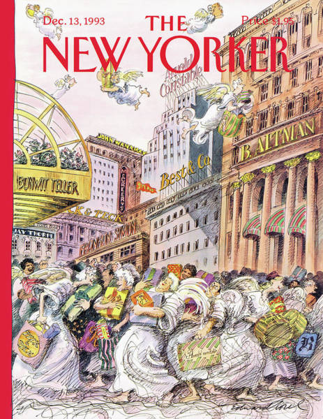Gift Shops Painting - New Yorker December 13th, 1993 by Edward Sorel