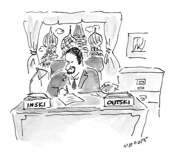Russian Drawing - New Yorker December 13th, 1999 by Jack Medof