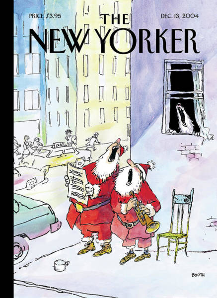 2004 Painting - New Yorker December 13th, 2004 by George Booth