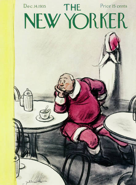 Dine Painting - New Yorker December 14 1935 by William Crawford Galbraith