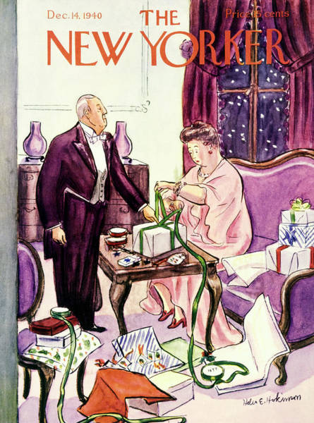 Gifts Painting - New Yorker December 14 1940 by Helene E. Hokinson