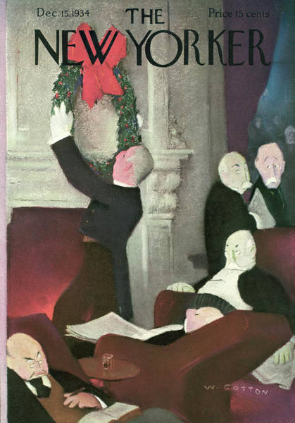 Xmas Painting - New Yorker December 15th, 1934 by Will Cotton