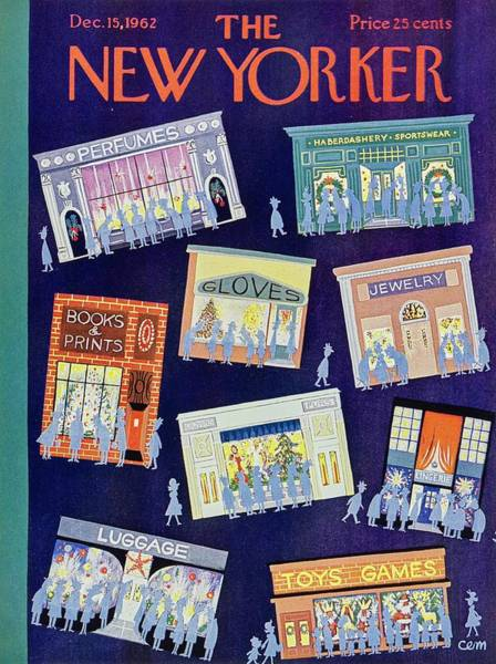 Wall Art - Painting - New Yorker December 15th 1962 by Charles Martin