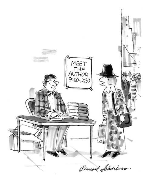 Author Drawing - New Yorker December 15th, 1997 by Bernard Schoenbaum