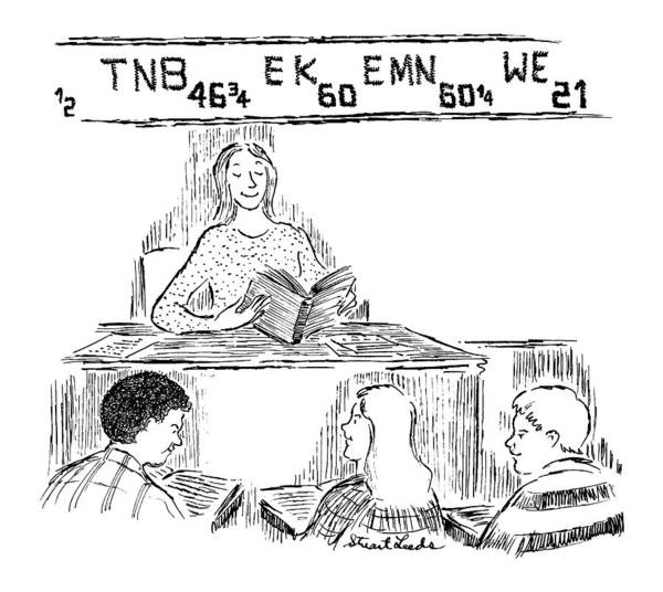 Teacher Drawing - New Yorker December 15th, 1997 by Stuart Leeds