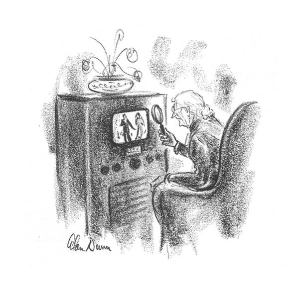Senior Drawing - New Yorker December 16th, 1939 by Alan Dunn