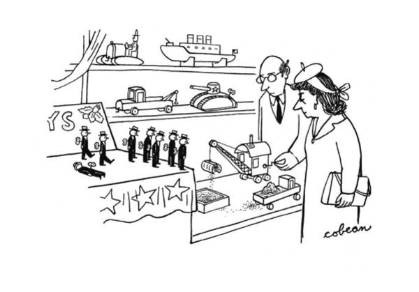 Retail Drawing - New Yorker December 16th, 1944 by Sam Cobean
