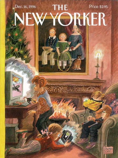 Past Painting - New Yorker December 16th, 1996 by Edward Sorel