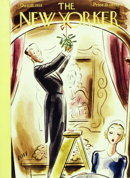 Humor Painting - New Yorker December 17 1938 by Leonard Dove