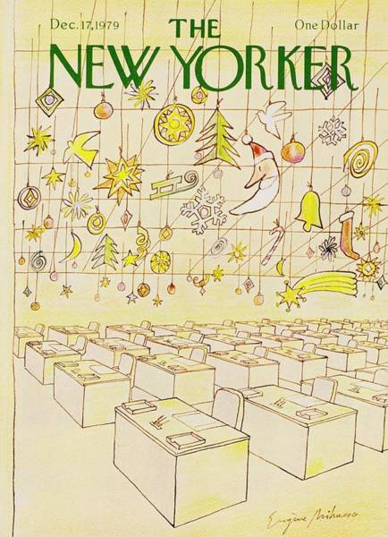 Office Furniture Painting - New Yorker December 17th 1979 by Eugene Mihaesco