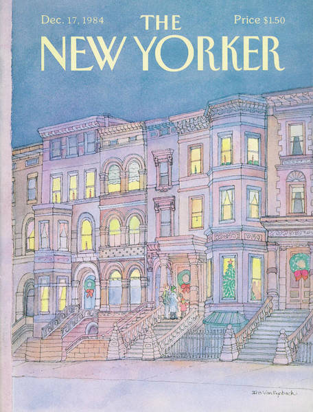 Architecture Painting - New Yorker December 17th, 1984 by Iris VanRynbach