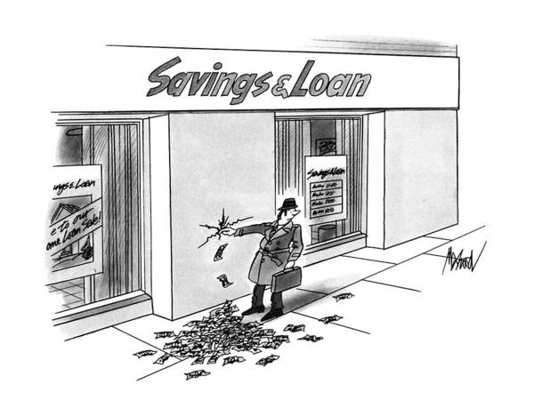 Saving Drawing - New Yorker December 17th, 1990 by Kenneth Mahood