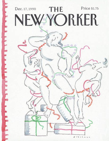 Gifts Painting - New Yorker December 17th, 1990 by RO Blechman