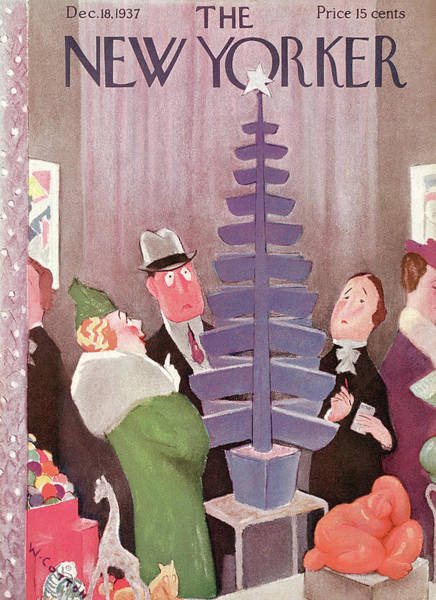 Seasonal Painting - New Yorker December 18th, 1937 by Will Cotton