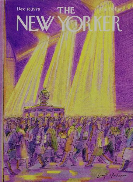 Wall Art - Painting - New Yorker December 18th 1978 by Eugene Mihaesco