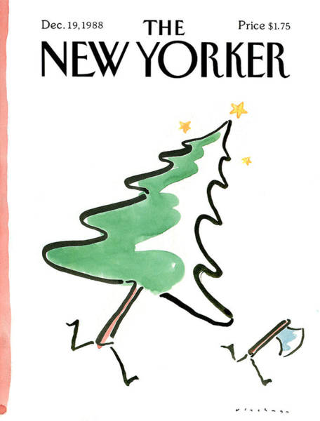 Chopping Painting - New Yorker December 19th, 1988 by RO Blechman