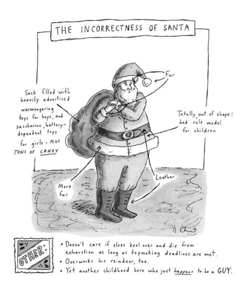 December 19th Drawing - New Yorker December 19th, 1994 by Roz Chast
