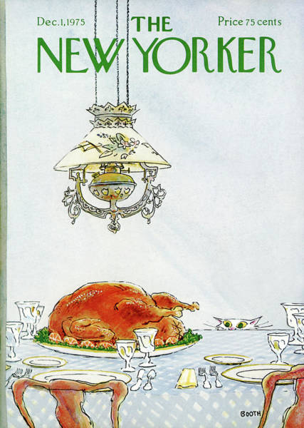 Cats Eye Painting - New Yorker December 1st, 1975 by George Booth