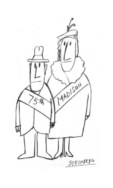 Print Drawing - New Yorker December 1st, 1975 by Saul Steinberg
