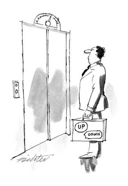Briefcase Drawing - New Yorker December 1st, 1986 by Mischa Richter