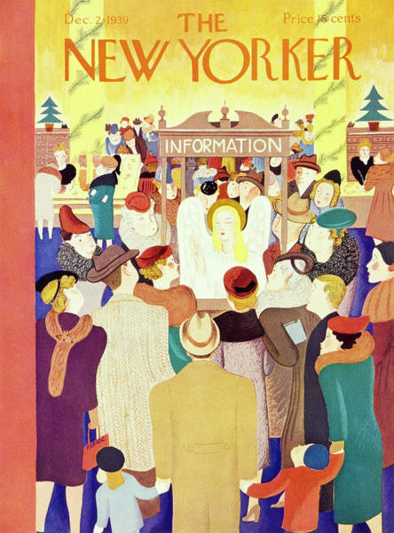 Magazine Painting - New Yorker December 2 1939 by Ilonka Karasz