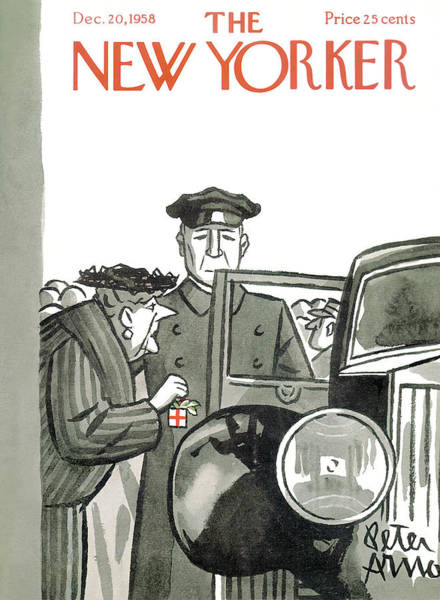 Grandparents Painting - New Yorker December 20th, 1958 by Peter Arno