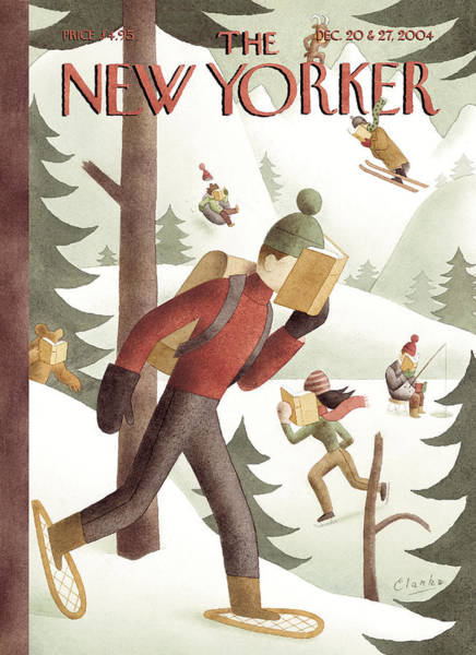 Snowy Painting - New Yorker December 20th, 2004 by Greg Clarke