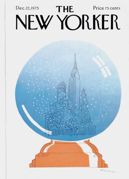 Skyline Painting - New Yorker December 22nd, 1975 by RO Blechman
