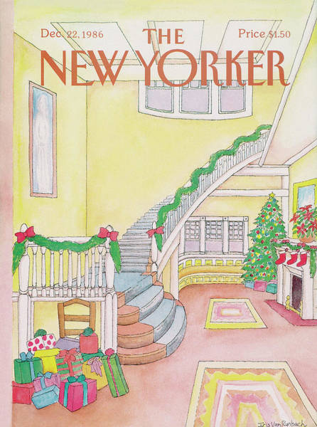 Gifts Painting - New Yorker December 22nd, 1986 by Iris VanRynbach