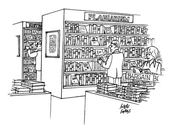 Bookstore Drawing - New Yorker December 22nd, 1997 by Joseph Farris