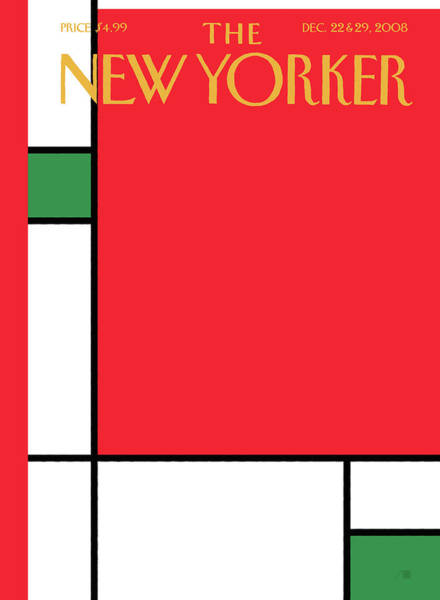 Color Block Painting - New Yorker December 22nd, 2008 by Bob Staake