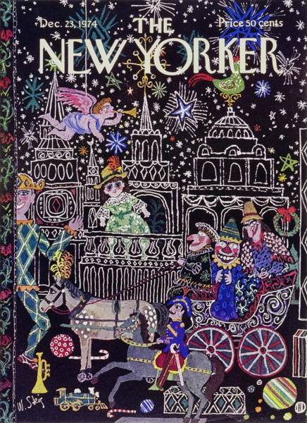 Wall Art - Painting - New Yorker December 23rd 1974 by William Steig