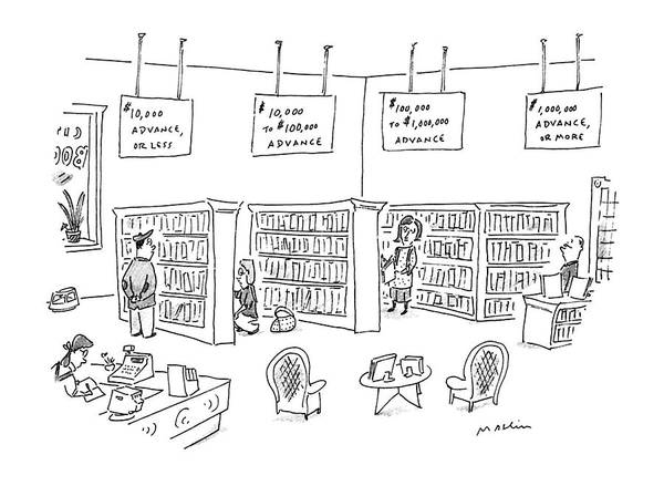 Shopping Drawing - New Yorker December 23rd, 1996 by Michael Maslin