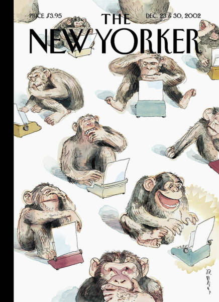 Book Painting - New Yorker December 23rd, 2002 by Barry Blitt